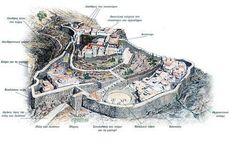 1. Η ακρόπολη των Μυκηνών χτισµένη στην κορυφή του λόφου. Κάτω απλώνεται η πεδιάδα του Άργους.
