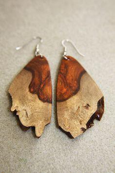 Unique Raw Edge Amboyna Burl Exotic Wood by ExoticWoodJewelryAnd