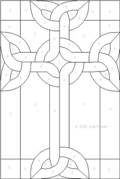 celtic knot cross stained glass