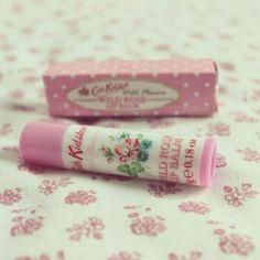 Cath Kidston wild rose lip balm... I love this stuff!