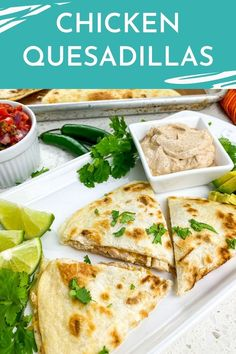 The delicious rotisserie chicken quesadillas will easily become your new favorite at-home Mexican recipe. These quesadillas are ready in under an hour! Easy Main Dish Recipes, Easy Dinner Recipes, Easy Meals, Healthy Chicken Recipes, Mexican Food Recipes, Ethnic Recipes, Baked Chicken, Keto Chicken, Roasted Chicken