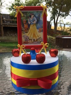 Snow White birthday centerpiece by angilee123 on Etsy