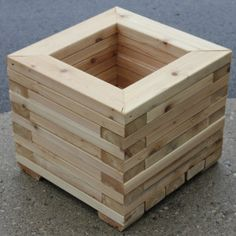 "Our 18"" Heavy Duty Square Planter Box Made from Western Red Cedar 2x4 Come check us out at 445 Conestogo Rd Waterloo, On N2L 4C9 Or www,cedarlandlumber.com"