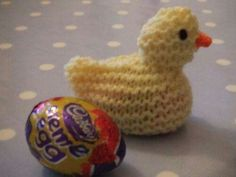 Knitted Chick and Creme Egg