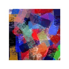 CANVAS ART  Large Abstract Print  24 x 24 by topix on Etsy
