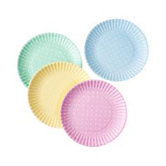 Pastel Polka Dot Plates - Set of 4 | dotandbo.com