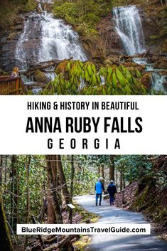 Exploring Anna Ruby Falls Near Helen, GA. - one of the best waterfalls in Georgia. Includes Info, History, Trails, and Directions.   north georgia waterfalls   waterfall hikes north georgia falls in north ga   north georgia waterfall  anna ruby falls directions   anna ruby falls hike   ruby falls hike   anna ruby falls cost   anna ruby falls ga   falls in north georgia   north ga. waterfalls   beautiful waterfalls in georgia   waterfalls north georgia   anna ruby falls trail Usa Travel Guide, Travel Usa, Travel Guides, Travel Tips, Cool Places To Visit, Places To Travel, Travel Destinations, Waterfalls In Georgia, North America Destinations
