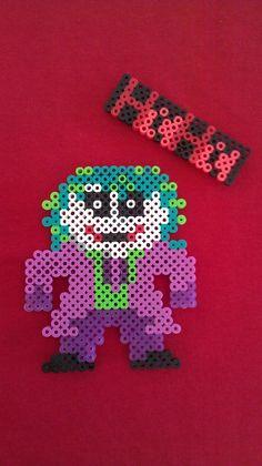 Joker Perler Bead Magnet by GothamCityComics