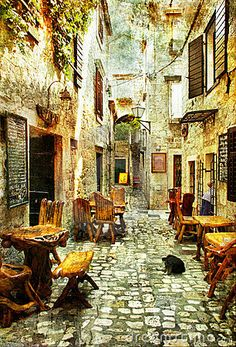 Trogir, Croatia - rustic, peaceful, calming, colorful, romantic, old, lived in
