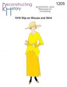 1918 Blouse and Skirt pattern | Downton Abbey Dress Pattern | Drop-Waist Dress Pattern