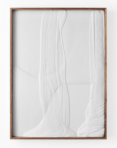 "Anthony Pearson Untitled (Plaster Positive) 2013 Hydrocal in walnut frame 59 ¾"" x 43 ¾"" x 3 ½"" AP324"