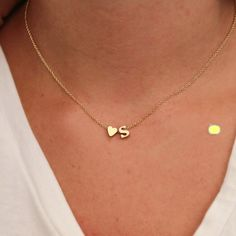 핫 패션 26 편지 및 심장 모양의 매력 펜던트 목걸이 여성 간단한 목걸이, 연인 선물 골드 도금 실버 초기 초커