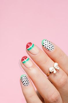 Summer Fruit Nail Art Ideas | ko-te.com by @evatornado |