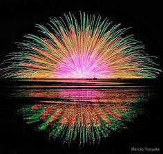 Suwa lake fireworks festival 2010 (Hanabi, Japan)