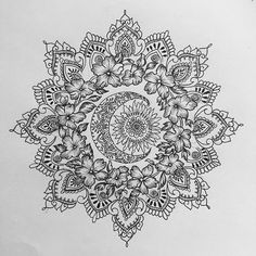 Sun and moon mandala for Rosette #mandala...