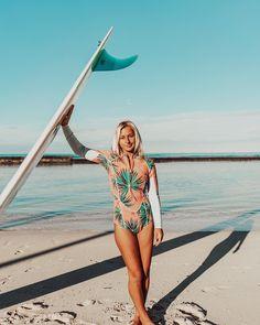 c26b31b190b4 @haleysurfergirl in the 2mm Salty Dayz Long Sleeve Springsuit Beach Fun,  Beach Babe,