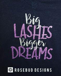 Big Lashes Bigger Dreams Ladies V-neck T-shirt #lasheslonger #biglashes