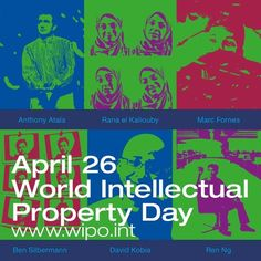 """Friday is World Intellectual Property Day.    This year's theme is """"Creativity – the next generation"""" to honor the talented and ingenious creators and innovators who are imagining how the world will look tomorrow.    More information here: http://j.mp/17XVdAi"""
