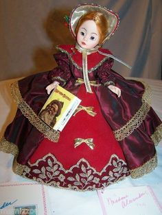 Christmas Caroling Doll Madame Alexander 1149 Hang Tag Doll Stand Etc | eBay