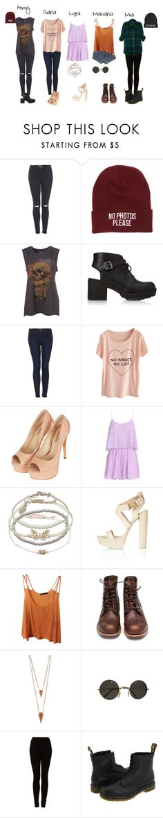 """""""the band: interview"""" by xsaturnox ❤ liked on Polyvore featuring Topshop, Young & Reckless, Forever 21, Accessorize, Levi's, Brandy Melville, Red Wing, Jules Smith and Dr. Martens"""