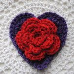 Free Valentine's Day Heart Pattern Layered Daisy in a Heart