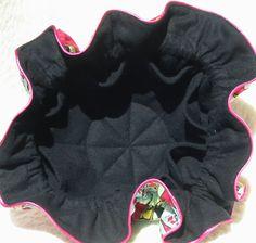 Anti Tarnish Black Damask Jewelry Pouch  with pink by jarck101, $20.00