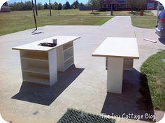 The Ivy Cottage Blog: DIY Large Work Table