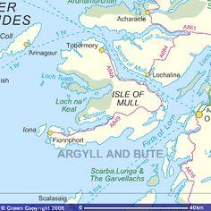 Mapa de la Isla de Mull, Escocia