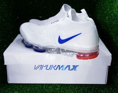 Authentic nike air max vapormax moc 2 2019 white blue red laceless Running Sneakers for Sale in Queens, NY - OfferUp Hype Shoes, Buy Shoes, Shoes Uk, Mens Fashion Shoes, Sneakers Fashion, Running Sneakers, Sneakers Nike, Blue Air Max, Nike Air Shoes