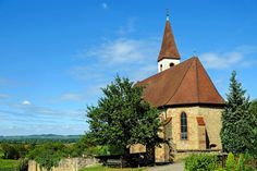 #ancient #architecture #building #chapel #church #countryside #daylight #foliage #gothic #kaiserstuhl #landscape #mountain church #outdoors #religion #scenery #stone walls #summer #tower #traditional #travel #tree