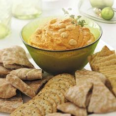 Roasted Red Pepper Hummus Recipe from Taste of Home -- shared by Nancy Watson-Pistole of Shawnee, Kansas
