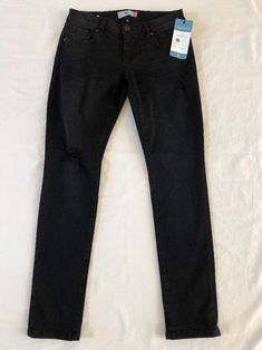 CAbi Fall 2017 Black Slim Boyfriend #3387 sz 2 NEW Destroyed Denim Jean #CAbi #Boyfriend