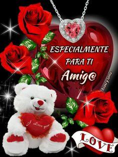 Zendaya Style, Beautiful Roses, Good Night, Red Roses, Christmas Ornaments, Holiday Decor, Spanish, Heart, Dia Del Amigo