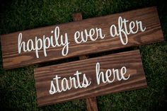 Rustic Wedding Signs  happily ever after by RusticWeddingSigns, $60.00