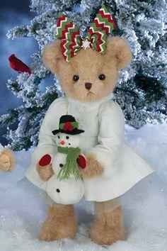 A Teddy Bear Christmas Teddy Bear Hug, Cute Teddy Bears, Teddy Bear Pictures, Christmas Teddy Bear, Vintage Teddy Bears, Boyds Bears, Bear Wallpaper, Love Bear, Bear Doll