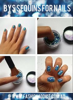 BYS SEQUINS for NAILS how-to | See more nail designs at http://www.nailsss.com/... | See more nail designs at http://www.nailsss.com/acrylic-nails-ideas/2/