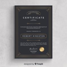 Certificate of achievement template Free Vector Certificate of achievement template Free Vector More from my site Colorful certificate template with flat design Vector Certificate Of Merit, Certificate Of Achievement Template, Certificate Design Template, Flyer Template, Letterhead Template, Book Design Layout, Cool Business Cards, Awards, Design Inspiration