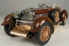 Racer Vintage Antique Sport Car RARE Woody Wood Speed Boattail Concept Model | eBay