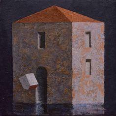 Matthias Brandes, Piccola Villa, 2016, oil and tempera on canvas, 20 x 20 cm…