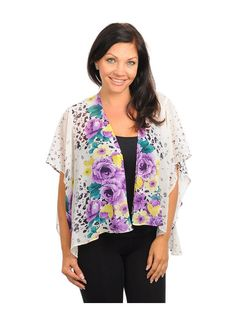 Purple Floral Cardigan by alight