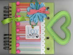 Crafty Polly project. Heart Handle Journal - Scrapbook.com