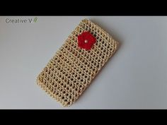 Crochet Phone Pouch DIY Tutorial - How to Crochet Easy Mobile Cell Phone Pouch Case Cell Phone Pouch, Diy Phone Case, Beginner Crochet Tutorial, Diy Tutorial, Crochet Fox, Crochet Hooks, Crochet Phone Cases, Crochet Mobile, Tejidos