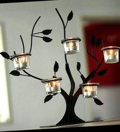 Elegant candle holder that is sure to add some style in your home. Made from iron this unique table piece hold up to 5 small candles. Candle Wedding Favors, Candle Holders Wedding, Wall Candle Holders, Candle Favors, Candle Stand, Custom Candles, Diy Candles, Scented Candles, Prices Candles