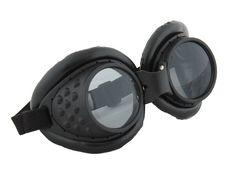 Radioactive Aviator Adult Costume Goggles Black