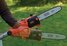 Black n Decker Corded Chainsaw Pole Chainsaw, Outdoor Power Equipment, Cord, Black, Cable, Black People, Cords, Garden Tools, Twine
