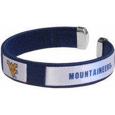 Ncaa West Virginia Fan Band Bracelet, Multicolor