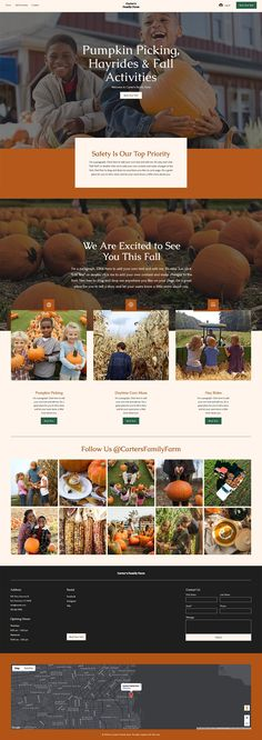 Pumpkin Patch Website Template | Wix Website Templates