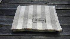 "TRIBEWOOD's LINEN BEACH BLANKET ""LINUM"" Big Stripes"