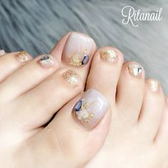 Cute Toe Nails, Cute Toes, Nail Designs Spring, Cute Nail Designs, Gelish Nails, Toenails, Short Nails, Nail Arts, Nail Inspo