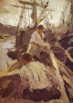 valscrapbook:  orangecatartblog:Valentin Serov, 1894, oil on wood, Tretyakov Gallery, Moscow, Russia